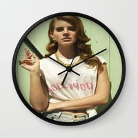 hollywood Wall Clocks featuring Hollywood by Michelle Rosario