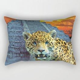 Temple Guardian - Mayan Leopard Rectangular Pillow