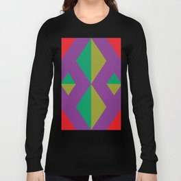 How many rhombuses can you count ? 4 inside a red one. Long Sleeve T-shirt