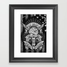 The devils right hand Framed Art Print