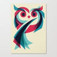 owl Canvas Prints featuring Owl by Jay Fleck