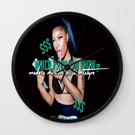 Up All Night Wall Clock