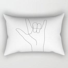 Love Hand Gesture Rectangular Pillow