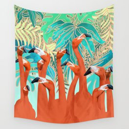 Flamingo Party Wall Tapestry