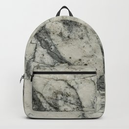The white stone with dark grey veins Backpack
