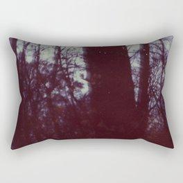 blue trees Rectangular Pillow