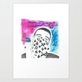 LV Scarf / Face Art Print