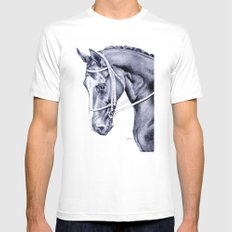 Nureyev (US) - Thoroughbred Mens Fitted Tee MEDIUM White