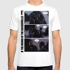 The Hound of The Baskervilles SMALL Mens Fitted Tee White