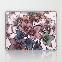 Beautiful pattern design with flowers in vintage style Laptop & iPad Skin