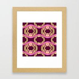 spheres pattern Framed Art Print