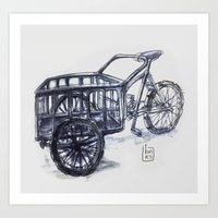 vietnam delivery bike Art Print