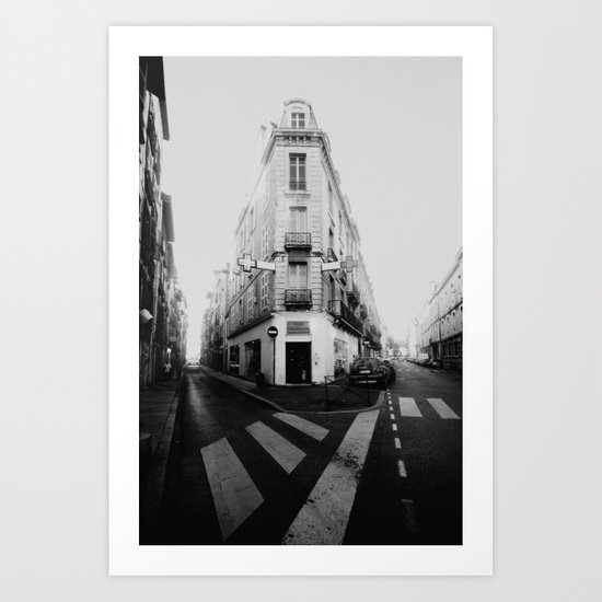 Monochrome France Art Print