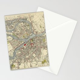 Map of St. Petersburg 1883 Stationery Cards