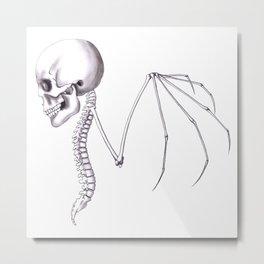 Skull Wing Metal Print