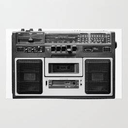 cassette recorder / audio player - 80s radio Rug