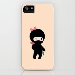 Tiny Ninja Boy and Girl iPhone Case