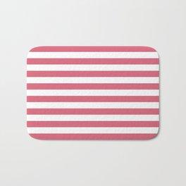 Large Nantucket Red Horizontal Sailor StripesLarge Nantucket Red Horizontal Sailor Stripes Bath Mat