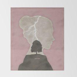 Charlotte Brontë Jane Eyre - Minimalist literary design Throw Blanket