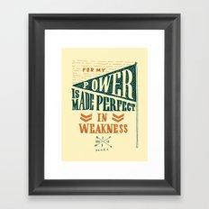 8/52: 2 Corinthians 12:9, part 2 Framed Art Print