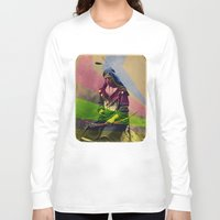 native american Long Sleeve T-shirts featuring Native American by Owen Addicott
