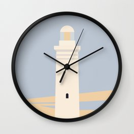 Coastal Minimal Lighthouse Print Wall Clock