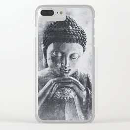 Buddha Grunge Clear iPhone Case