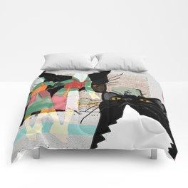 Kats Visit Museum Comforters