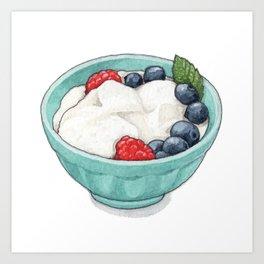 Breakfast & Brunch: Yogurt Art Print