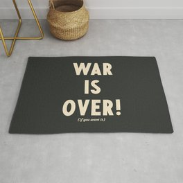 War is over!, if you want it, vintage art, peace, Yoko Ono, Vietnam War, civil rights Rug