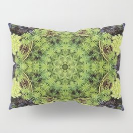 Filigree Foliage Kaleidoscope Pillow Sham