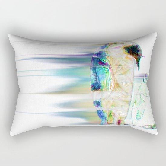 Remix Emperor Penguins Rectangular Pillow