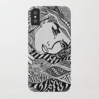 lichtenstein iPhone & iPod Cases featuring Zentangle Lichtenstein by butterflyandbear