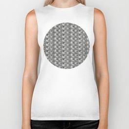 Geometric Optical Illusion Pattern IV - Black Biker Tank
