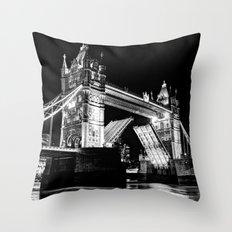 Tower Bridge Opening Throw Pillow