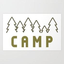 Camp Wilderness Art Print