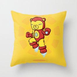 Iron Bear Throw Pillow
