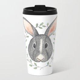 Buns the Grumpy Bunny Metal Travel Mug