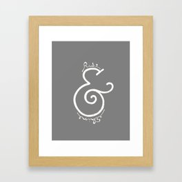 """rise & shine"" Ampersand Framed Art Print"