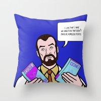 lichtenstein Throw Pillows featuring Doctor Krieger Lichtenstein by turantuluy