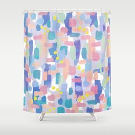 watercolor pattern Shower Curtain