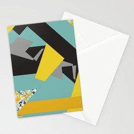 bee' flower geometric Stationery Cards