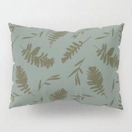 Falling Leaves / green Pillow Sham