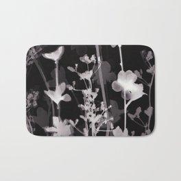 Flower Photogram #2 Bath Mat