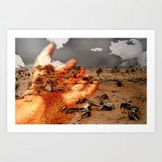 kuraklık Art Print