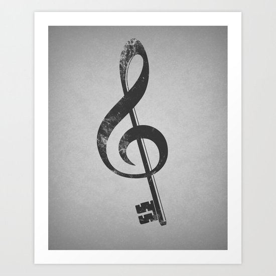 The music is the key. Art Print