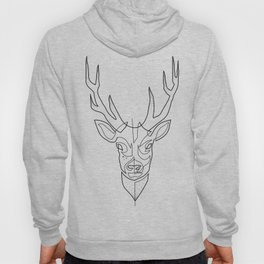 Deer Drawing in One Line Hoody