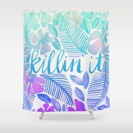 Killin' It – Turquoise + Lavender Ombré Shower Curtain