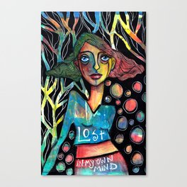Lost in my own mind Canvas Print