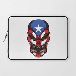 Puerto Rico Skull | Proud Boricua Flag Laptop Sleeve